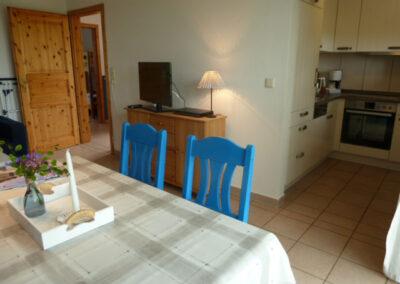 Wohnzimmer mit Küche Fewo 1 Liethshof
