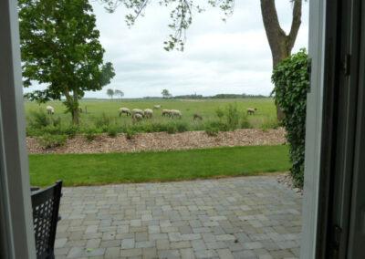 Ausblick von der Terrassentür Liethshof